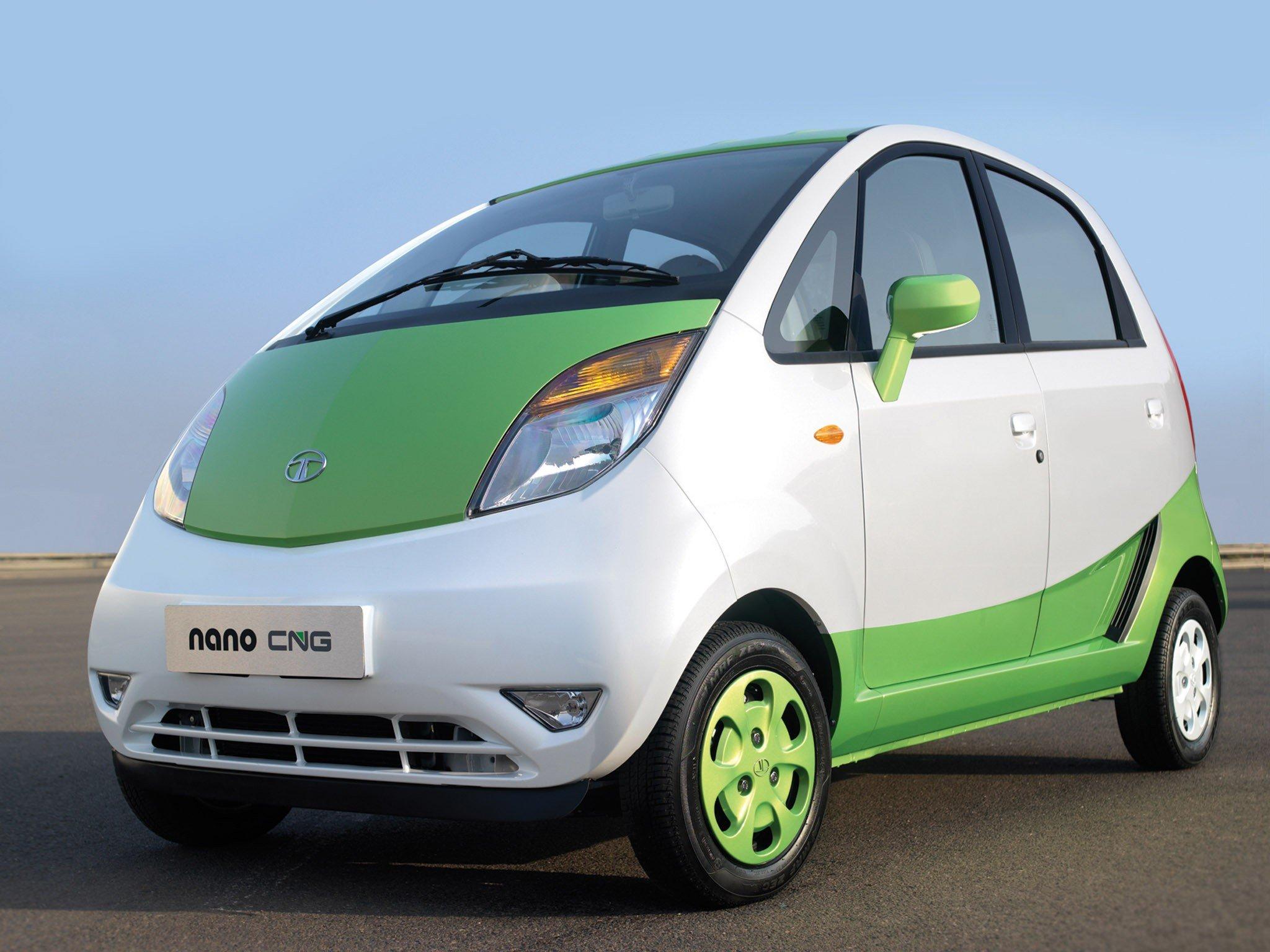 Tata Nano CNG front