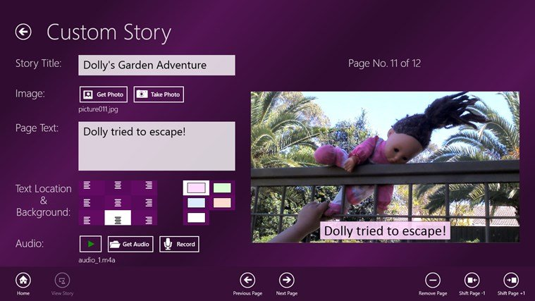 Kids Story Builder, a new storytelling app published by Microsoft Devices