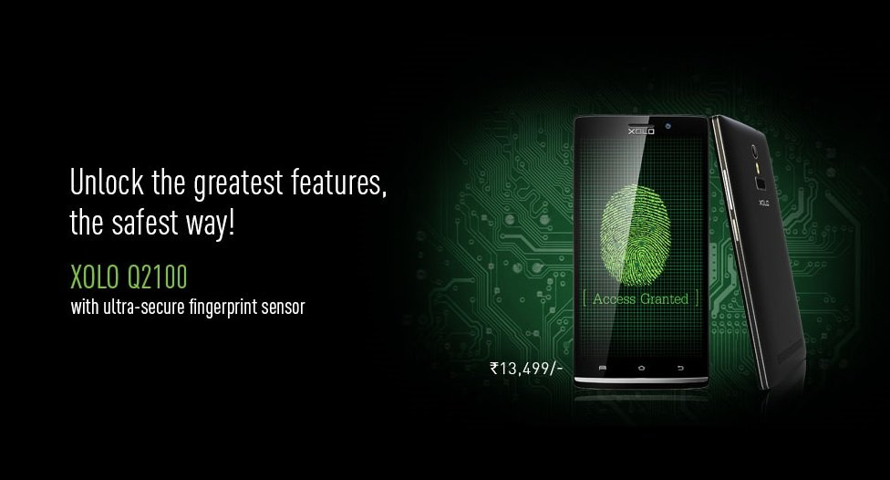 Xolo Q2100 with built-in fingerprint sensor unveiled in India for Rs. 13,499