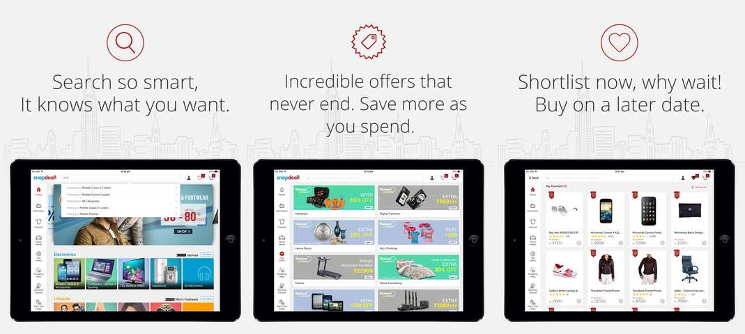 Snapdeal introduces its native online shopping app for iPad users