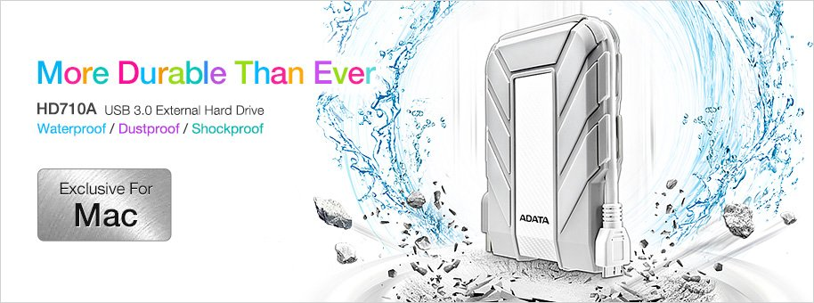 ADATA unveils HD710A USB 3.0 External Hard Drive exclusively for Mac users