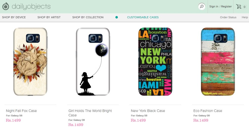 DailyObjects introduces over 3000 designer cases for Samsung Galaxy S6