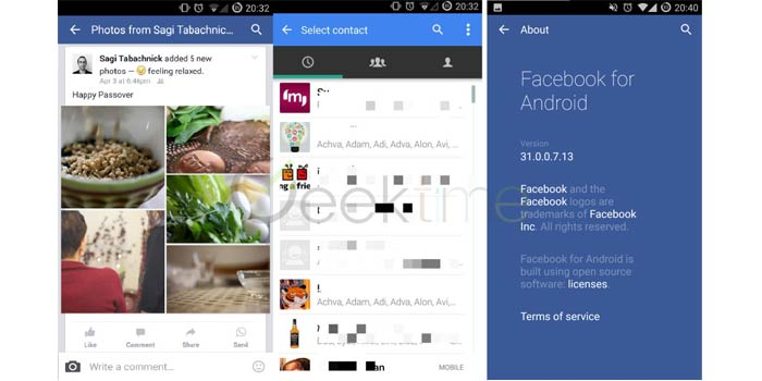 Facebook starts testing WhatsApp integration in its official Facebook for Android app