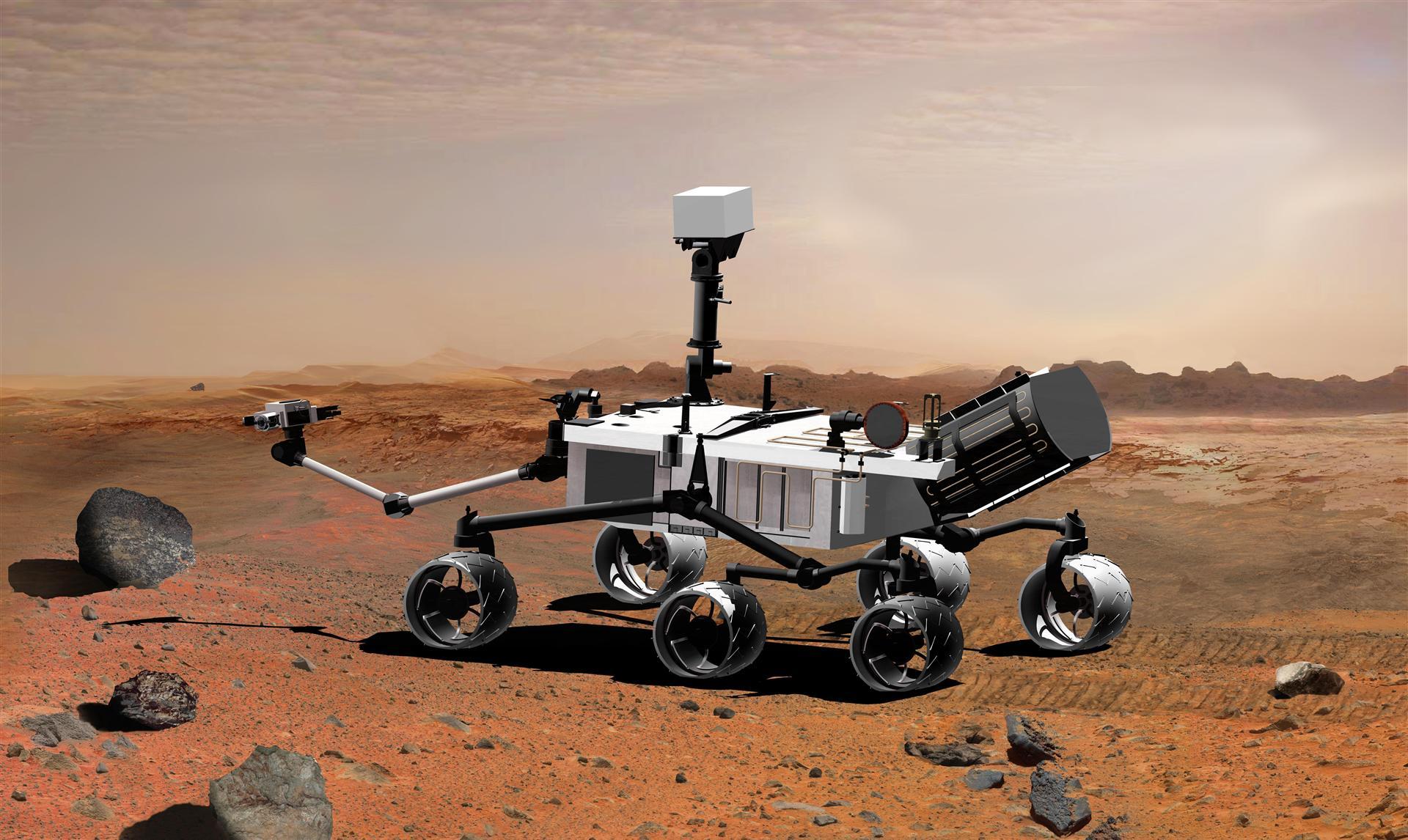 Mars Rover Curiosity Artist Rendition NASA