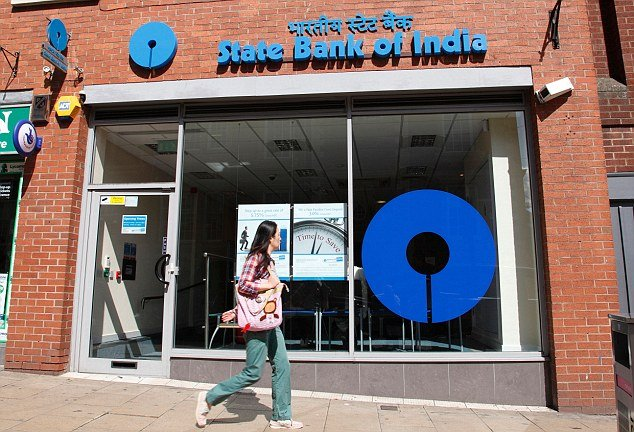 A branch of the State Bank of India in Leicester, England, U.K.