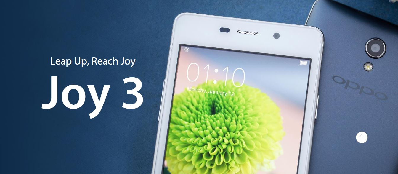 Oppo launches Joy 3 in India at Rs. 7,990: Specs and Features