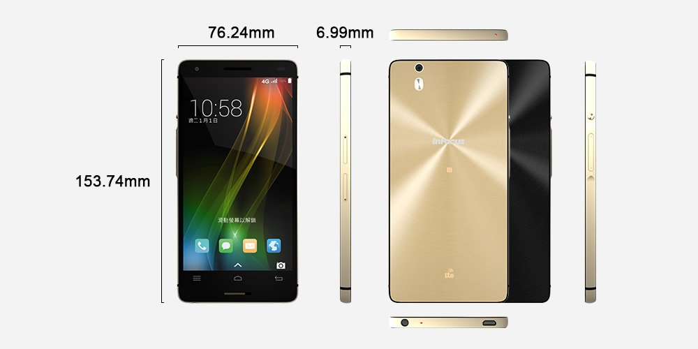 """InFoucs Corporation has launched new-fangled premium level mid-range smartphone """"InFocus M810"""" in the Indian market."""