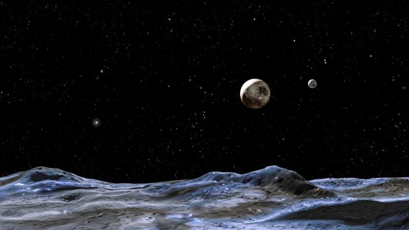 Planet X behind Pluto