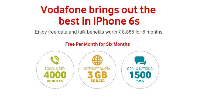 Vodafone Red Plan for iPhone 6S and 6S Plus
