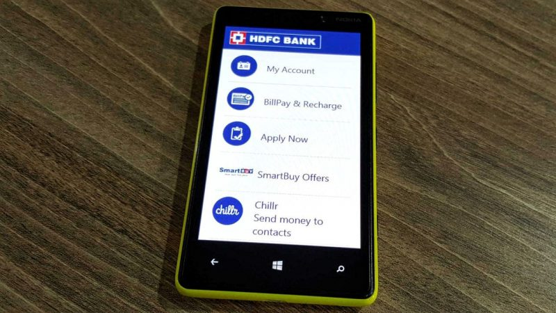 HDFC Bank App for Windows Phone