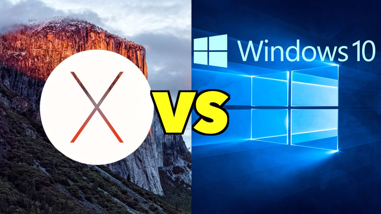 Apple Mac OS X El Capitan vs Microsoft Windows 10