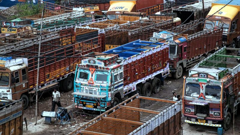 trucks entering Delhi not