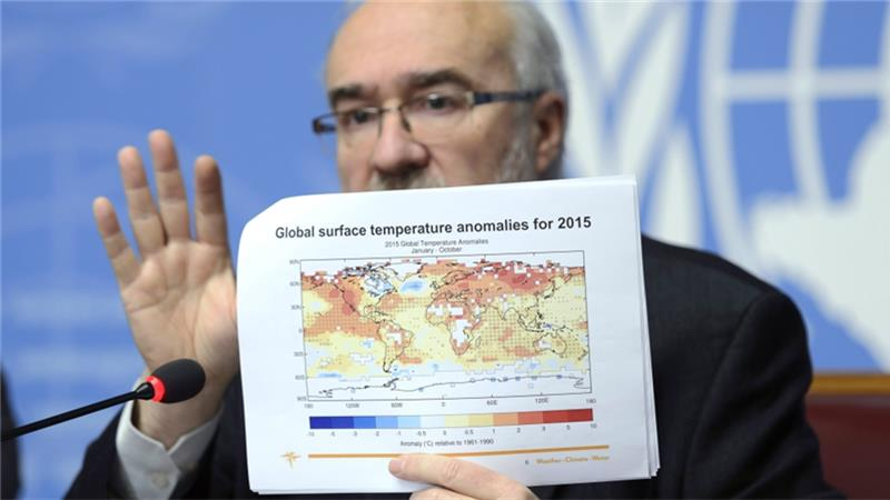 WMO says 2015 is the warmest year