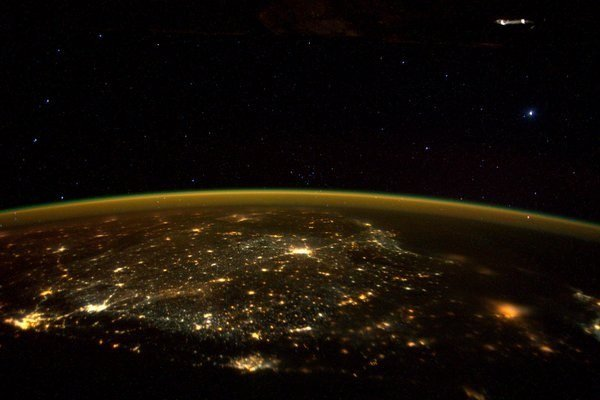 image of South India taken from Space