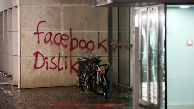 Vendals attack Facebook office in Germany