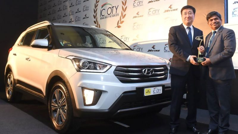 Hyundai Creta receives Indian Car of the Year Award