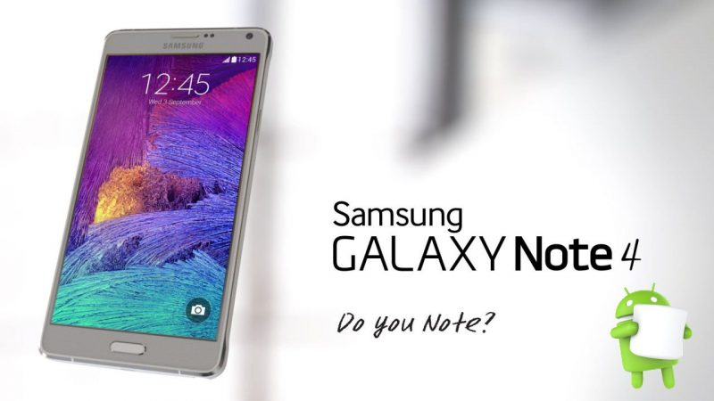 Samsung Galaxy Note 3, Note 4, Note 5 Android 6.0 Marshmallow