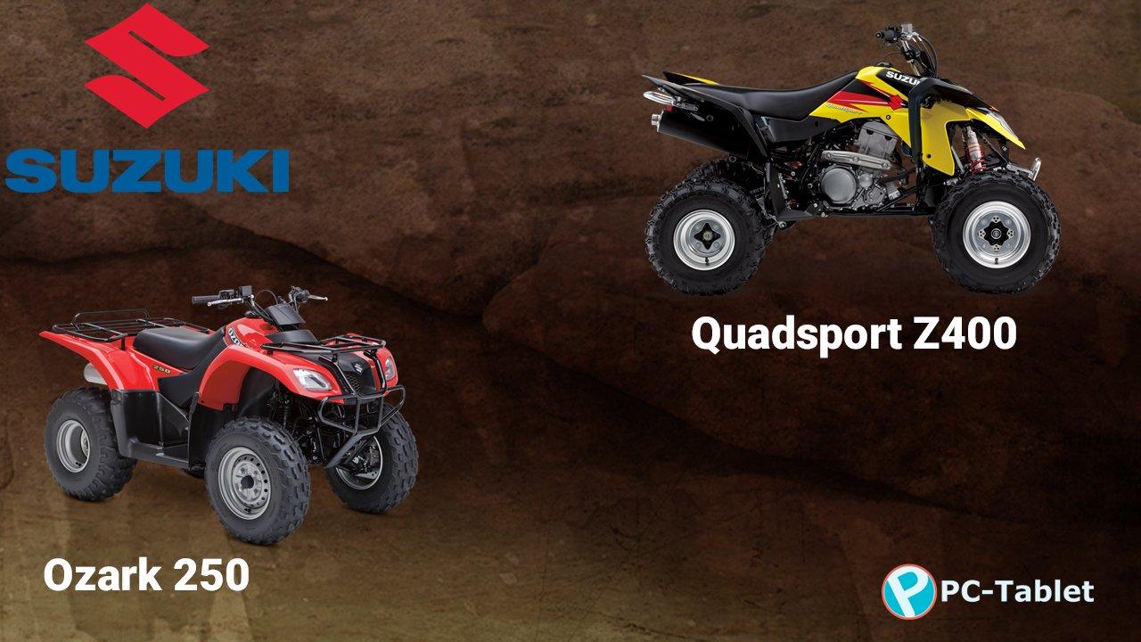 Suzuki Motorcycles Ozark 250 and Quadsport Z5400 ATV
