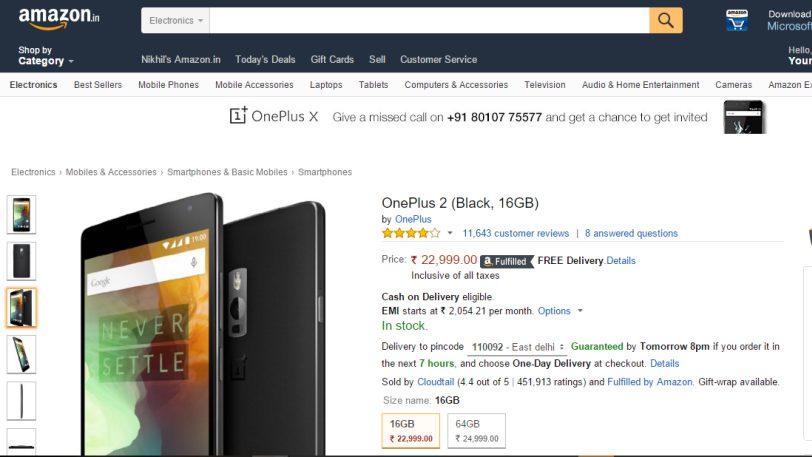 OnePlus 2 16GB Black