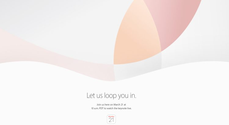 let us loop you in Apple march 21 event