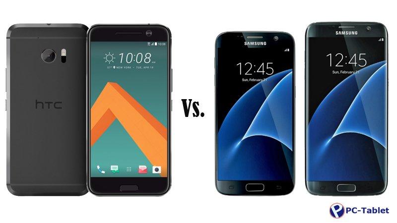HTC 10 vs Samsung Galaxy S7 Galaxy S7 Edge