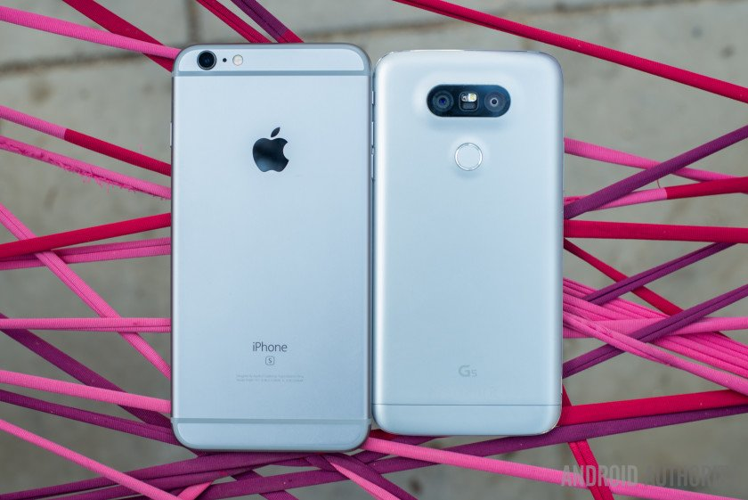 LG G5 vs Apple iPhone 6S Plus 1