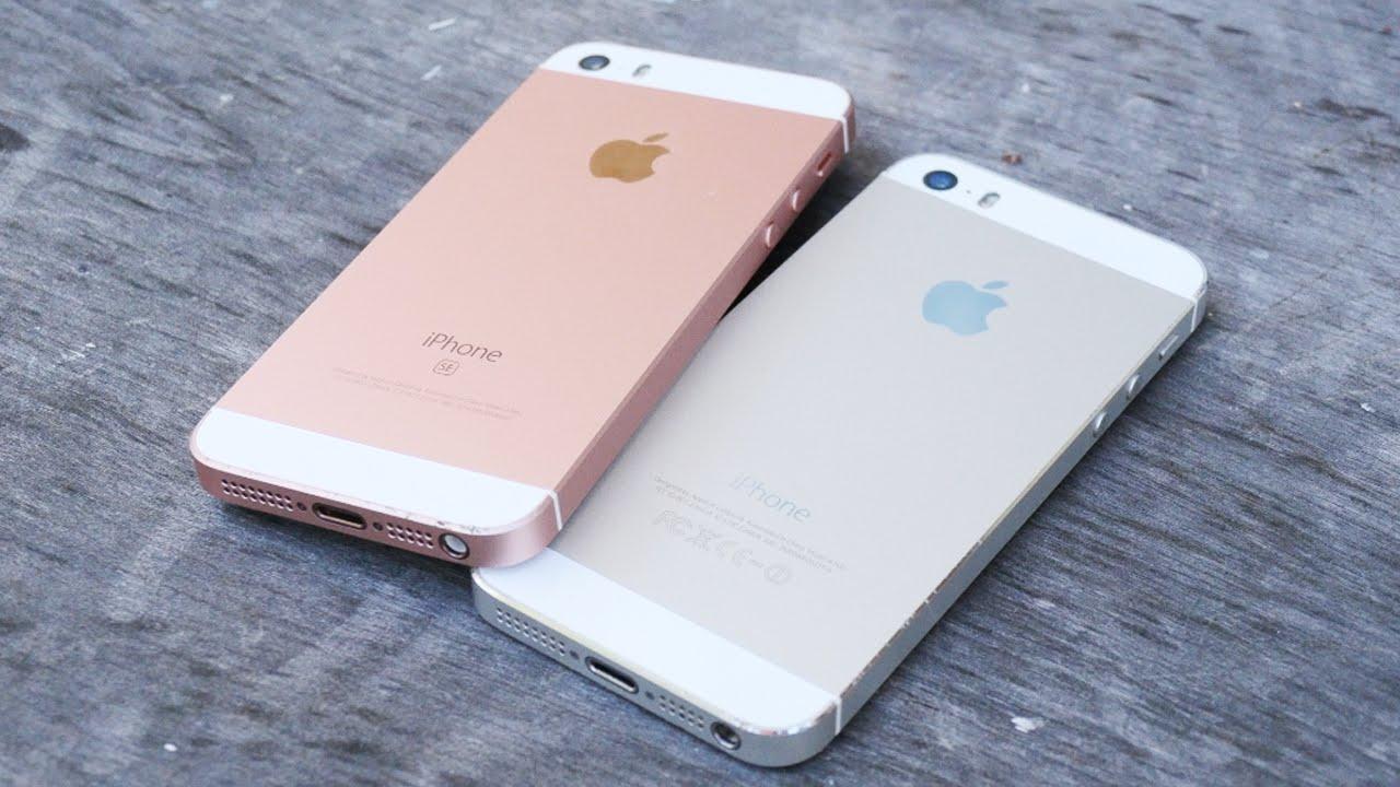 iPhone SE vs iPhone 5S