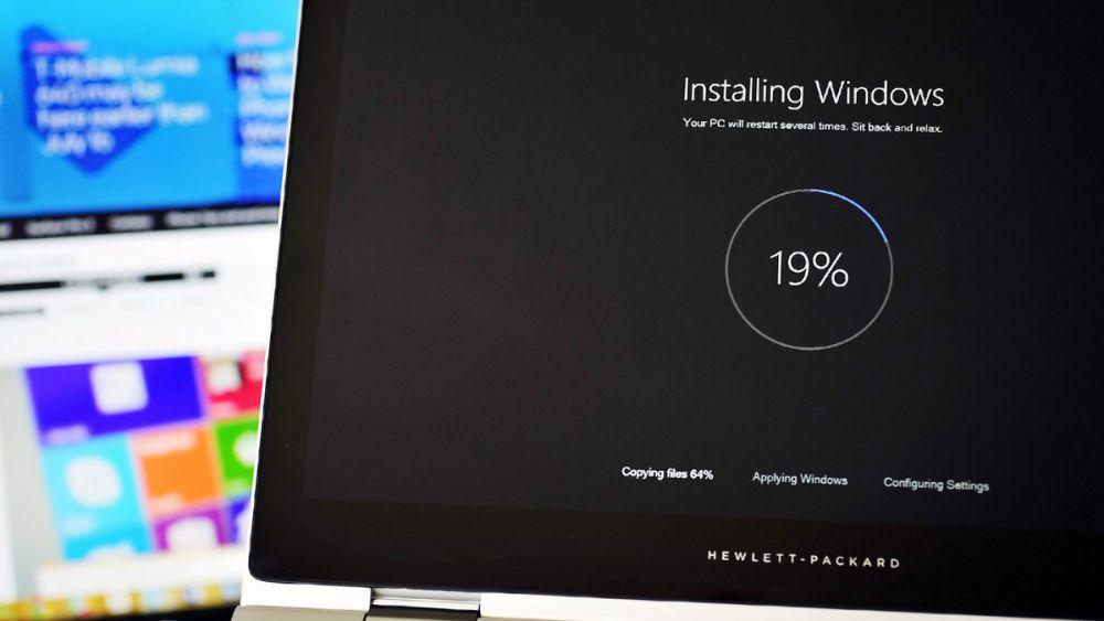 windows 10 install setup