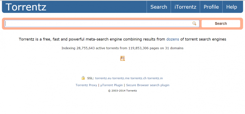 Torrentz search engine down