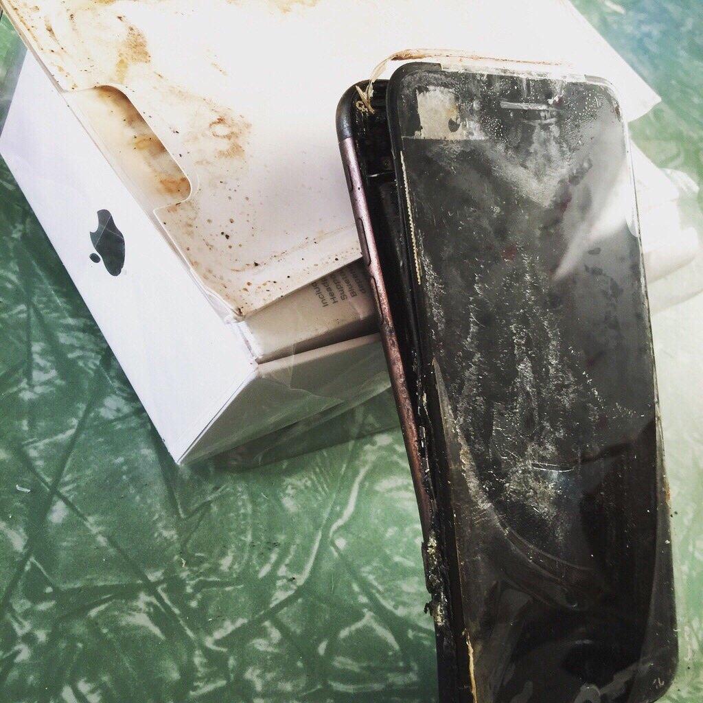iPhone 7 explosion