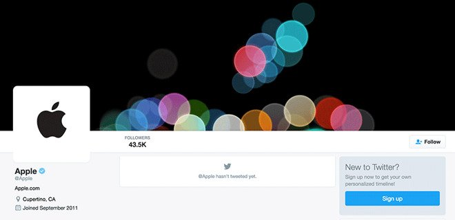 Apple Twitter handle