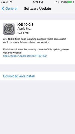 Apple iOS 10.0.3