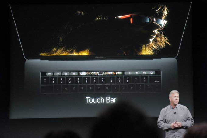 Image Credits: TechCrunch TouchBar replaces the traditional function key in the newly unveiled MacBook Pro models.