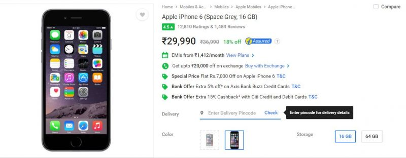 iphone 6 flipkart diwali sale
