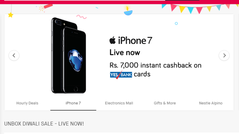 iPhone 7 snapdeal discount