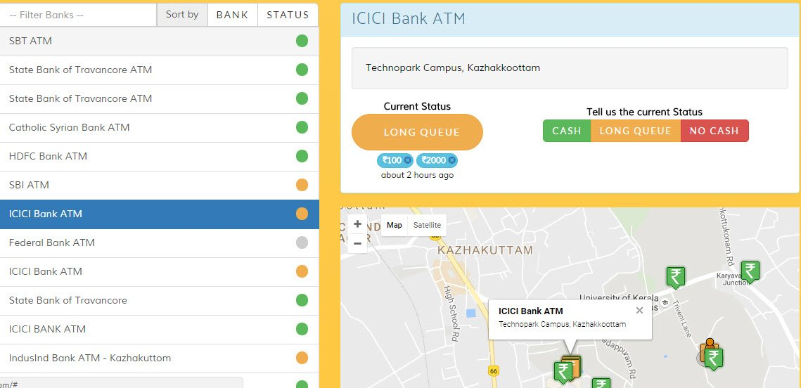 how to find atm location