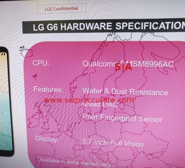LG G6 full specs leak