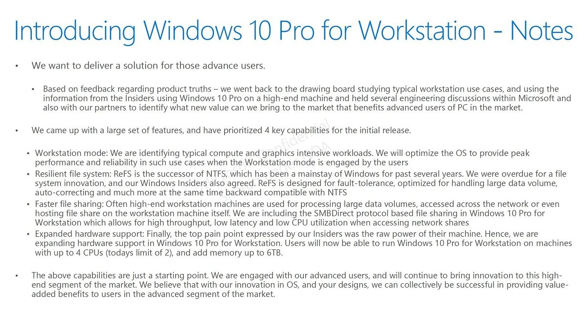 Microsoft might be planning a Workstation edition of Windows 10 Pro