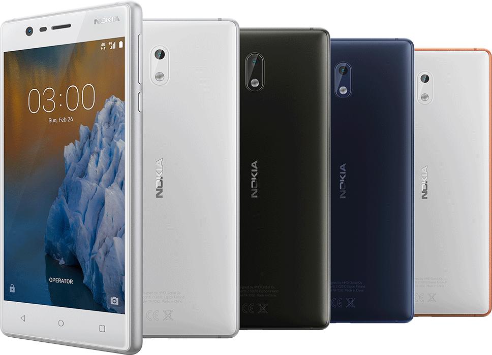 Nokia 3 Beautyshot all