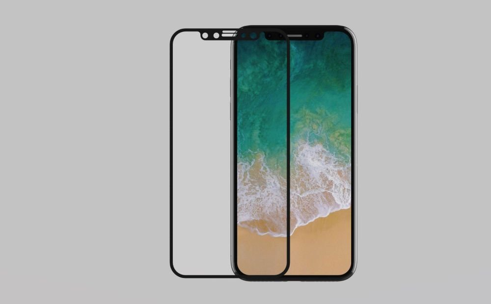 iPhone X with tempered glass
