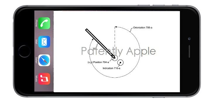 Apple pencil iphone patent