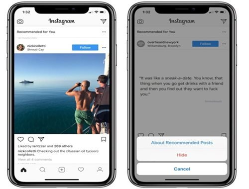 Instagram is adding a 'recommended' post on to your feed