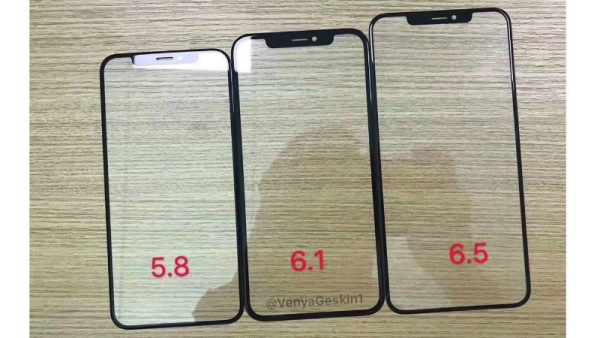 2018 iPhone lineup case leak