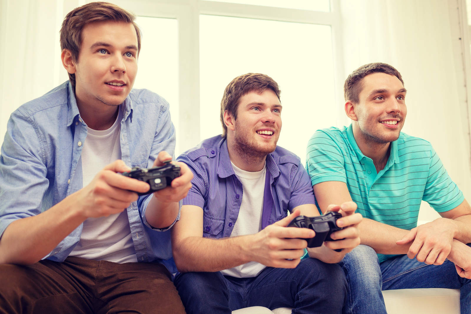 Boys Playing Xbox One Game