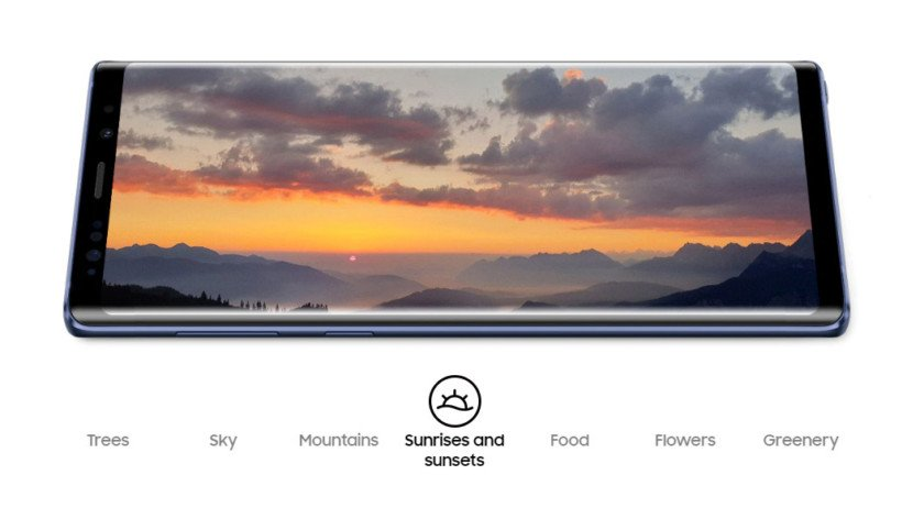 samsung galaxy note 9 ai recognition