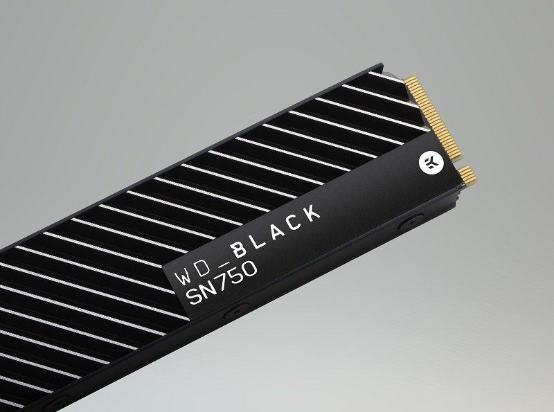WD Black SN750 SSD with heatsink NEW