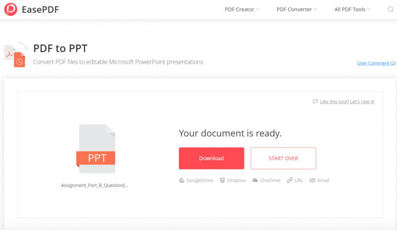 EasePDF PDF to PPT
