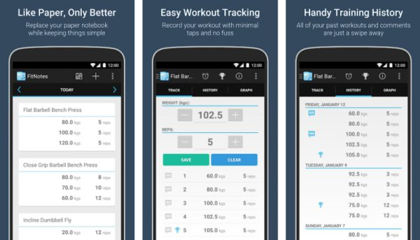 FitNotes- Best Fitness Apps for Android