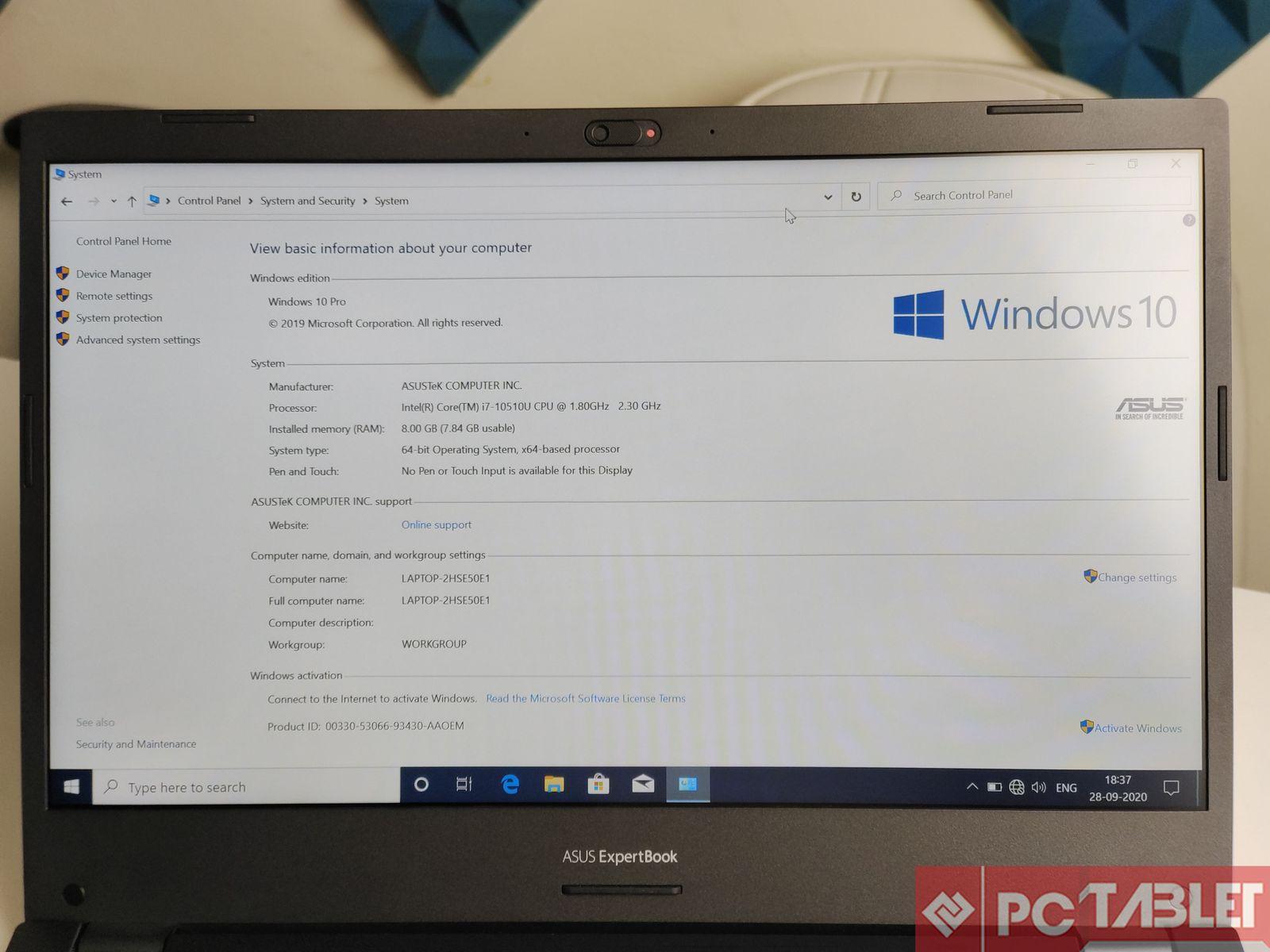 Asus ExpertBook P2451F laptop Review 11