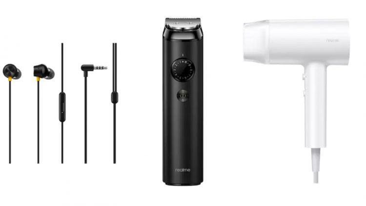 realme beard trimmer hairdryer earplug 750x422 1